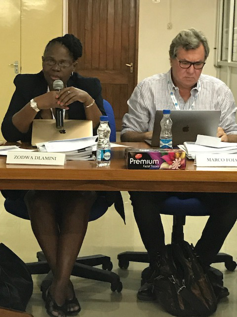 Prof. Zodwa Dlamini, South Africa and Prof. Marco Foiani, Italy