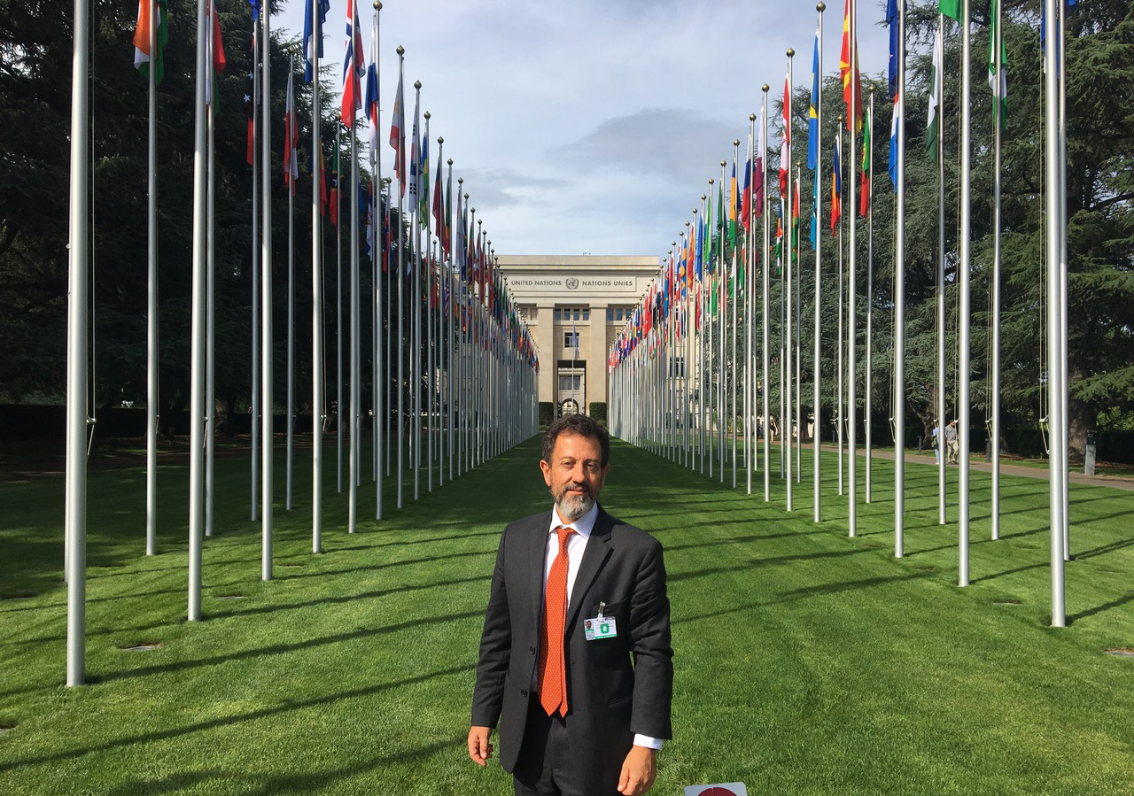 Alessandro Marcello for ICGEB at the UN in Geneva