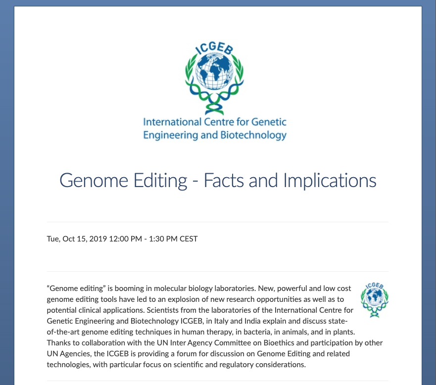 Genome Editing Facts and Implications