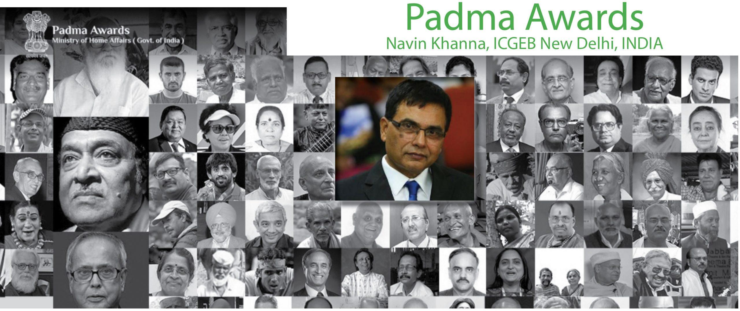 Padma Shri Award to Navin Khanna, ICGEB New Delhi