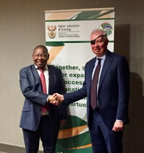 Minister Nzimande with Lawrence Banks