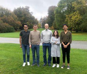 (L-R): Luis Ventura, Cornell Alliance; PhD Tomasz Zimny, SLU; PhD Dennis Eriksson, SLU; Aysegul Sirakaya, Ghent University; André Rosado, ICGEB.