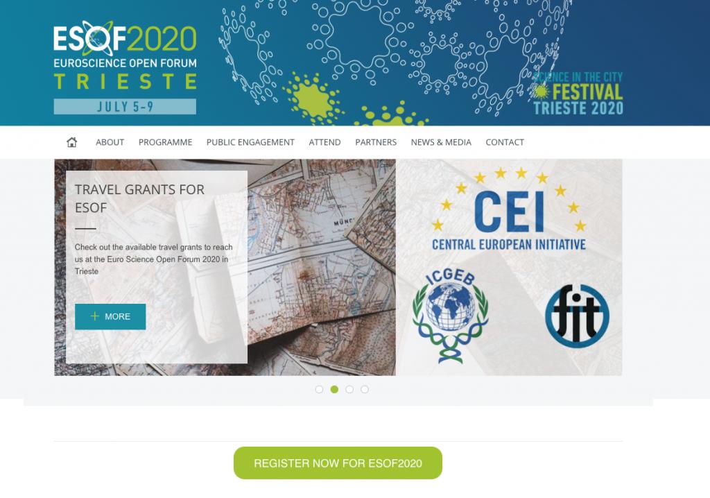 Register now for ESOF2020
