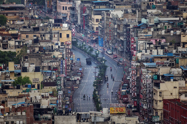 New Delhi has seen far fewer cases than other densely populated cities. Photo: New York Times, 4 May 2020