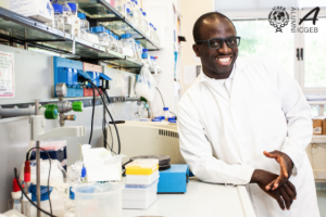 Dr. Samson Musonerimana, ICGEB Bacteriology lab, obtained his PhD at ICGEB Trieste, through the SISSA, on 4 June 2020 - first ICGEB Alumnus from Burundi, first PhD via videoconference. That's a lot of Firsts!