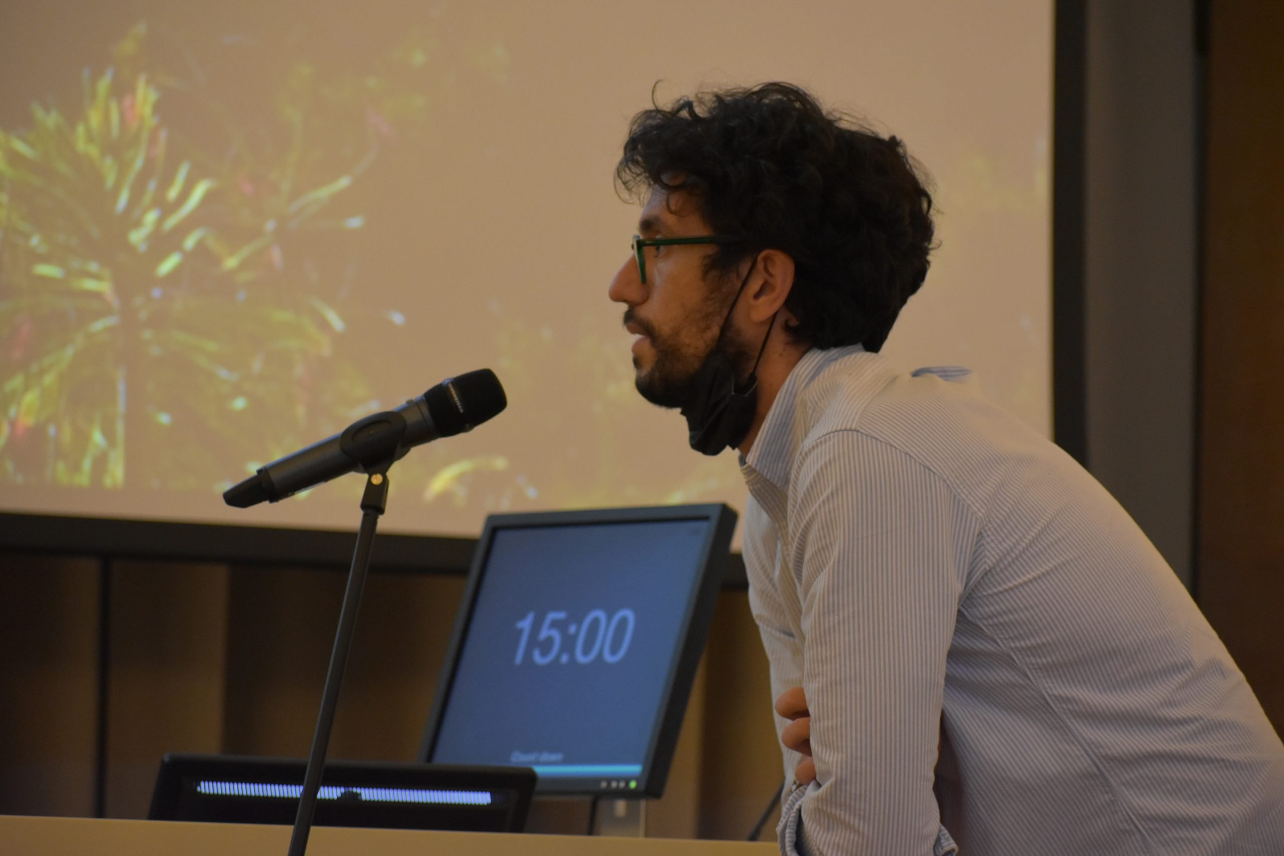 Luca Braga, Functional Cell Biology Group Leader and ICGEB Alumnus at the 26th Annual Symposium in Trieste