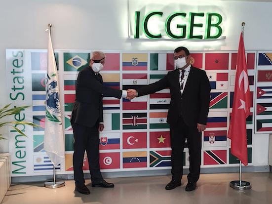 Prof. Hasan Mandal, President of Tubitak with Dr. Lawrence Banks, ICGEB Director-General